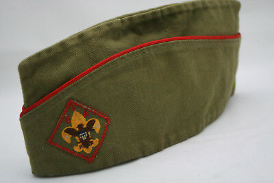 Vntg Boy Scouts Cap Offiicial BSA Garrison Hat Sanforized Sz Large
