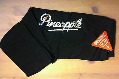 Pineapple Black Silver Dance Leggings Gym Bottoms Ages 9/10 - 11/12 - 13/14