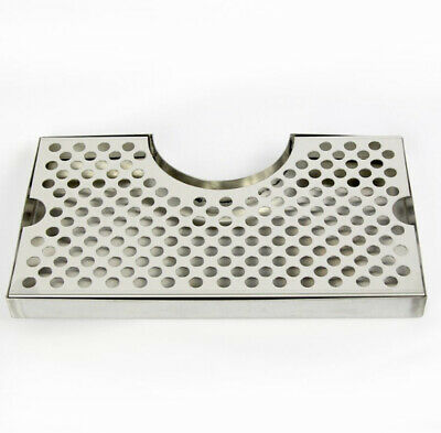 Stainless Steel Drip Tray with Cutout for Tap Tower Beer Pub Bar Kegerator Keg