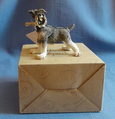 A Breed Apart SCHNAUZER mini dog #CAO4335 Country Artists Enesco