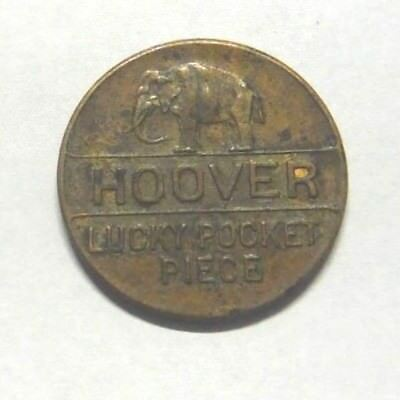 Vintage Herbert Hoover 4 Years Prosperity Lucky Pocket Piece Campaign Token Coin