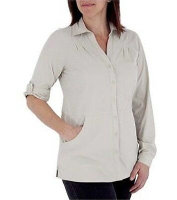 JT010 Royal Robbins Size XL Discovery Lite Stretch Elbow Sleeve Soapstone Beige