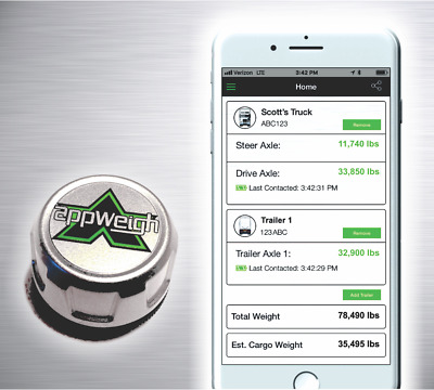 AppWeigh Bluetooth Onboard Truck / Trailer Load Scale & Weight App