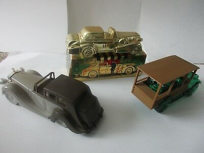vintage lot of 3 Avon cologne Classic cars