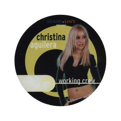 Christina Aguilera authentic Working 2000 tour Backstage Pass