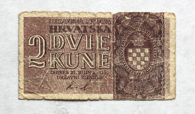 2 Kuna, Independet State of Croatia, WW II, 1942.