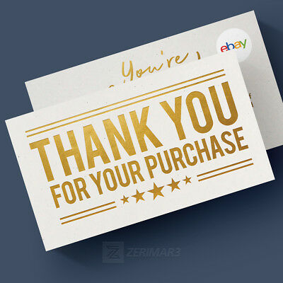 500 Thank You For Your Purchase - Ebay Seller Business Cards 16pt Top Quality