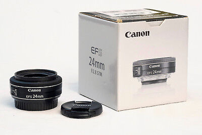 Canon EF-S 24mm f/2.8 STM Auto Focus Camera Lens, Boxed 24 mm 2.8 stm