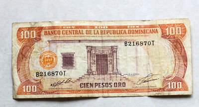 100 Pesos Oro, Bank of Dominican Republic, 1995.