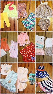 LOT Baby Girls Sz 9/12 Month 25 Pc  Spring Summer Outfits Gymboree Mud Pie
