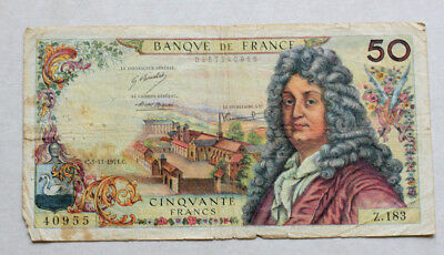 50 Francs, Bank of France. 1971.