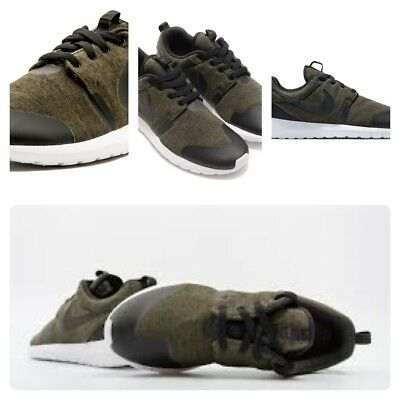 fdab099e7091e Nike Roshe One NM TP Olive Green Tech Fleece Pack Black White 749658-301 Sz