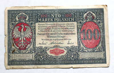 100 Marek, Bank of Poland, 1916.