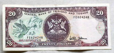 20 Dollars, Bank of Trinidad and Tobago, 2002.