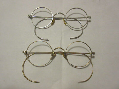 Beatles John Lennon Antique Vintage Genuine Marshwood Round Gold Eyeglasses Nice