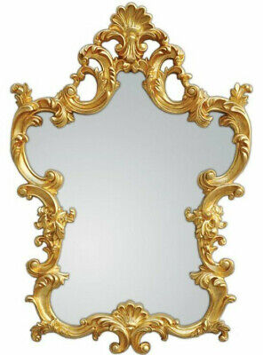 XXL Wall Mirror Antique Baroque Rococo 76 x 110 cm in Gold Mirror New Woe