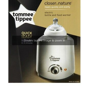 Tommee Tippee Closer To Nature Electric Baby  Bottle & Food Warmer Black