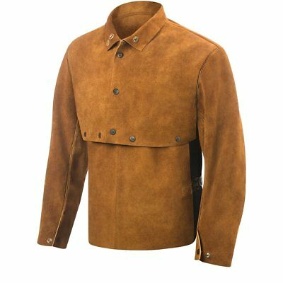 Steiner 9212-M Cape Sleeve With 14-Inch Bib, Weld-Rite Premium Brown Split