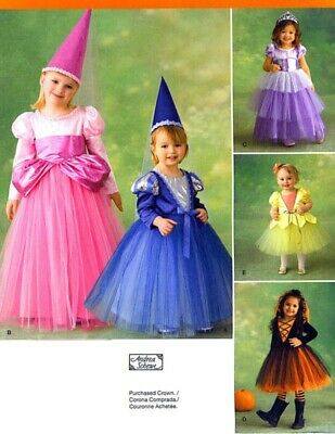 Princess Witch Halloween Costume Simplicity Pattern 2569 New Size