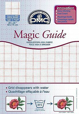DMC MAGIC GUIDE AIDA BLANC 50cms x 75cms BLANC - DC28MG BLANC - FREE UK P&P