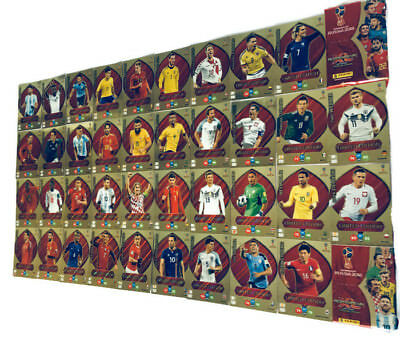 2018 Panini Adrenalyn XL WORLD CUP RUSSIA LIMITED EDITION + XXL + premium gold