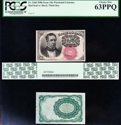 Amazing CHOICE UNCIRCULATED 5th Issue 10 cent Fractional! PCGS 63 PPQ! TC33