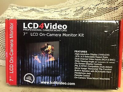 "7""  LCD4Video Professional Camera Monitor 7"" LCD Video Monitor"