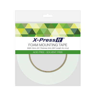 Foam Mounting Tape - X-Press It - 18mm x 2mm x 4m