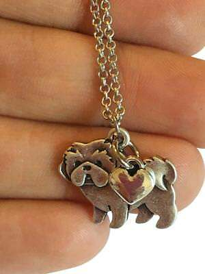 Shih Tzu Charm Necklace, Shihtzu Pet Dog Lover Gift, Stainless Steel Silver...