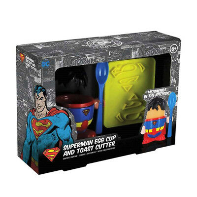 DC Comics Superman Egg Cup & Toast Cutter NEW