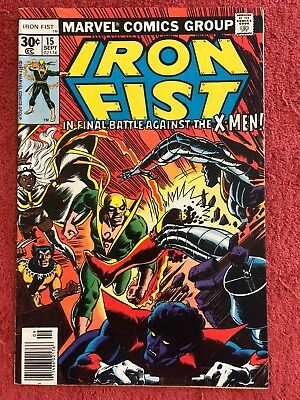Iron Fist 1st 15 Marvel Lot of 1 1977 X-Men Claremont Byrne Green Cockrum