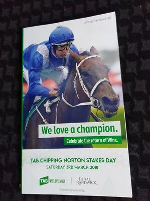 WINX Race Book Chipping Norton Stakes RaceBook WINX Black Caviar Cox Plate 3TIME