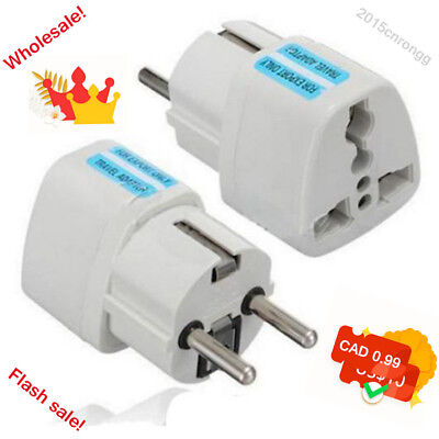 USA US UK AU To EU Europ Travel Charger Power Adapter Converter Wall Plug Home &
