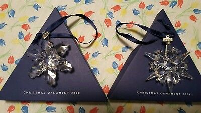2008 Swarovski Crystal Annual Christmas Ornament Star/snowflake