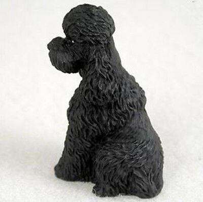 POODLE BLACK (Sport Cut) TINY ONES DOG Figurine Statue pet lovers gift resin
