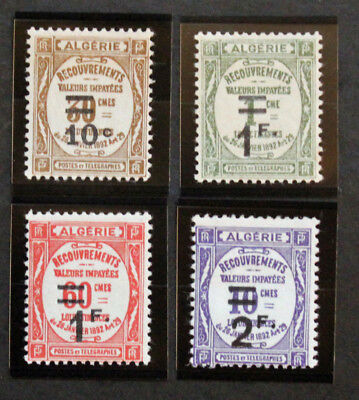 Stamp ALGERIA FRANCAISE / FRENCH ALGERIA Stamp - YT Taxe 21 à 24 n (Cyn23)