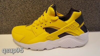competitive price 5c61d c87fb Nike Air Huarache Run GS Tour Yellow Black White PS GS Boys Girls Size 11c-