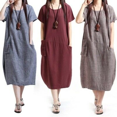 Summer Women's Loose Maternity Dress Pregnancy Pregnant Clothing Clothes Dress