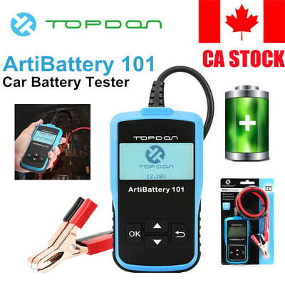 CA STOCK TOPDON ArtiBattery101 Battery Tester Analyzer Cranking Charging Test
