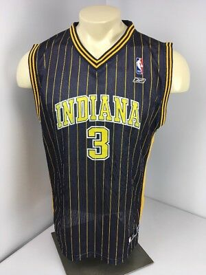 88d543c28 Reebok Indiana Pacers Basketball NBA Jersey  3 Harrington Navy blue pin  stripe