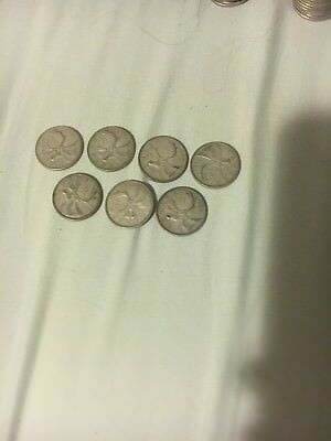 Canada Quarters Lot Of 7 - 1961