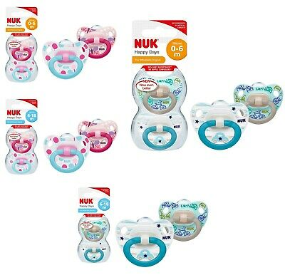 NUK Happy Days Silikon Schnuller 2pk