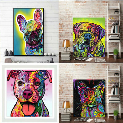 Art Oil Painting Unframed Hound Animal Canvas Wall Pictures Dog Pooch Decor
