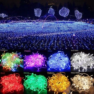 30M/300 50M/500 LED Fairy String Lights Lighting Party Garden Wedding Xmas