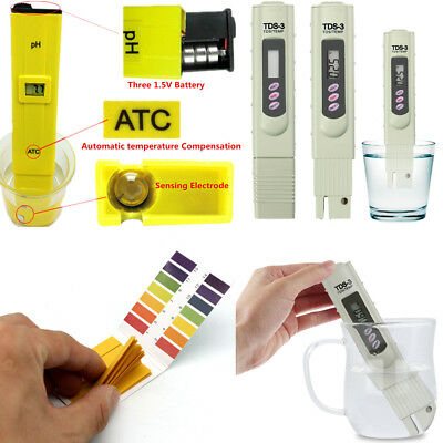 Digital Electric TDS/PH Meter Tester Plastic Hydroponics Water Test Pen/Paper