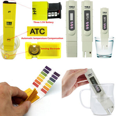 TOP Digital pH Meter LCD TDS Water Purity PPM Filter Hydroponic Pool Tester Pen