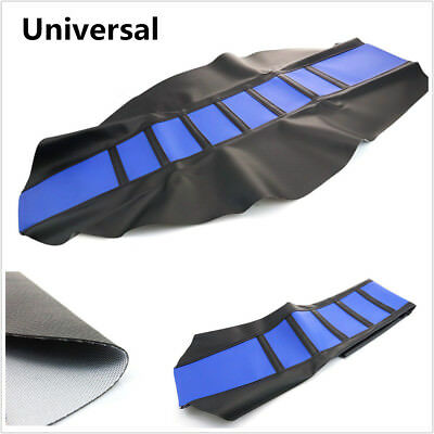 Universal Gripper Soft Motorcycle Seat Cover Rib Skin Rubber DirtBike For Suzuki