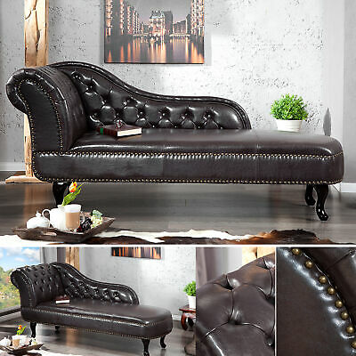 Chesterfield Recamiere coffee Bank Chaiselongue Sessel Ottomane