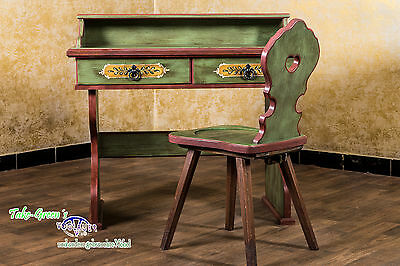 voglauer Year 1800 Secretary Desk Make-up Table Country House Antiques Coloured