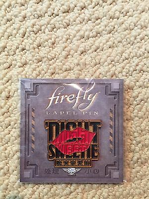 Loot Crate Firefly Exclusive Saffron Night Sweetie Lapel Pin New unopened